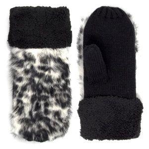 Snow Leopard Fur Mittens